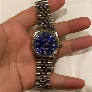 Rolex oyster Date just 100% authentic with diamond